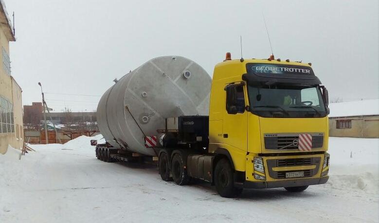 Перевозка оборудования массой 50 т, габариты 9х4,5х4,5 м