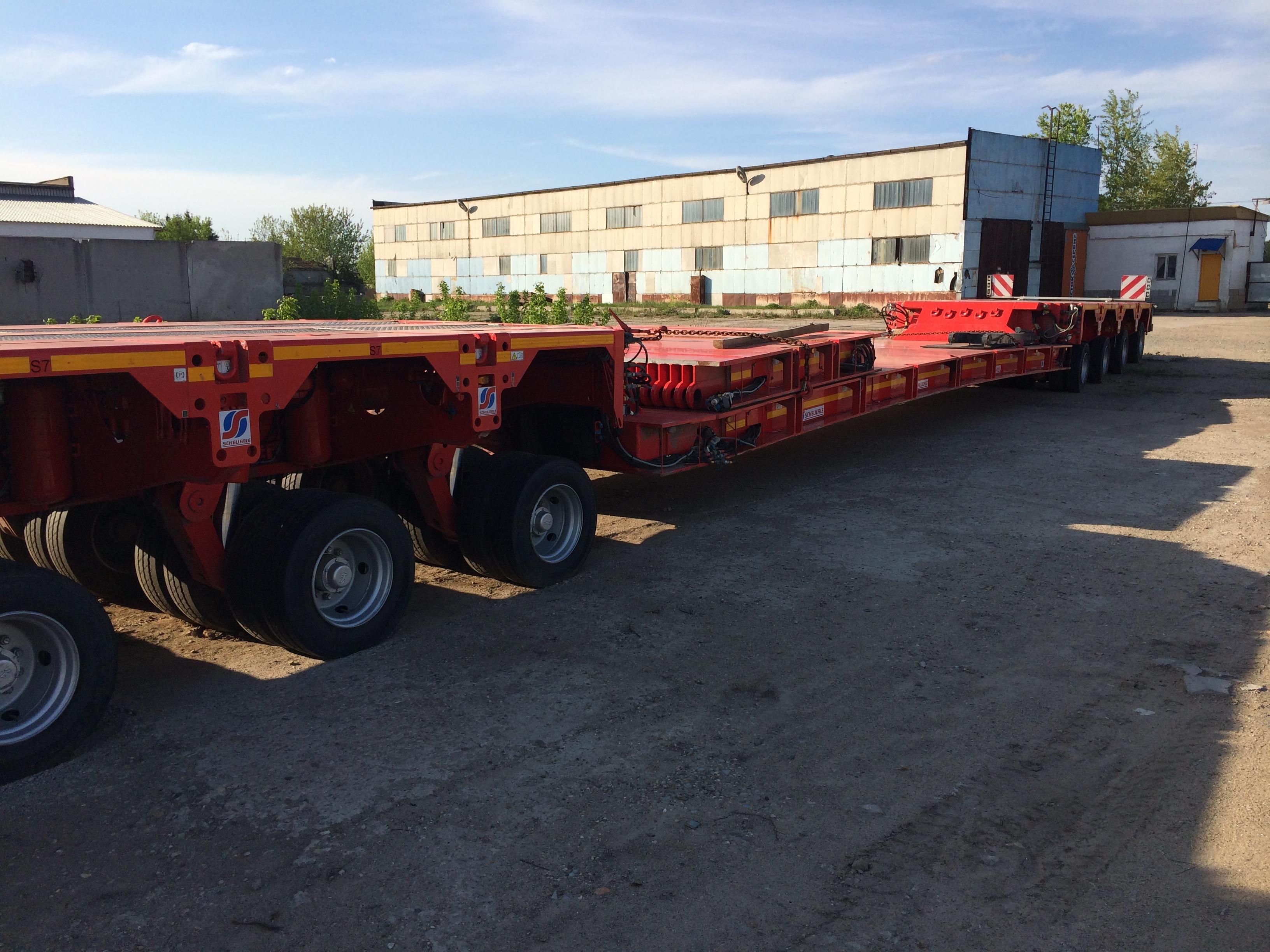 Модульный низкорамный трал 4х4 оси для перевозки грузов